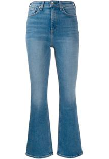 Rag & Bone Nina High Rise Flared Jeans - Azul