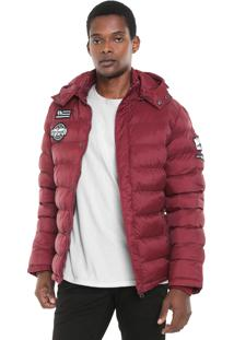 Jaqueta Puffer Broken Rules Patches Vinho
