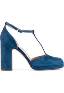 5528ec937a8d ... L'Autre Chose Sapato Com Tiras Em T - Azul