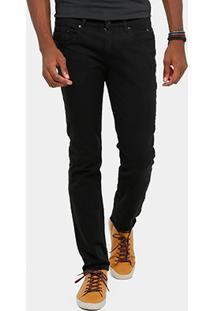 Calça Skinny Calvin Klein Color Sarja Black Masculina - Masculino