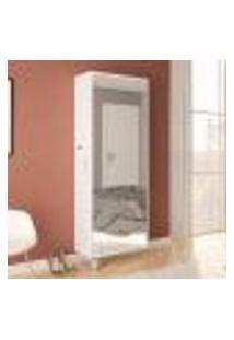 Sapateira Itu Com 1 Porta Com Espelho Branco - Politorno