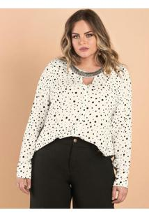 Blusa Viscose Feminina Secret Glam Bege
