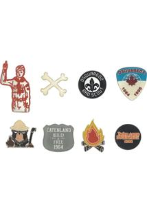 Dsquared2 Conjunto De Broches 'Boy Scout' - Estampado