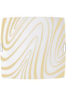 Plafon Quadrado Grande Curvas Marfim