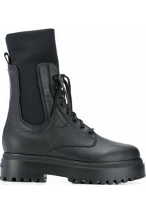 Le Silla Ankle Boot Ranger De Couro - Preto