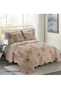 Conjunto De Colcha Evolution Patchwork Queen Size- Off Wcamesa