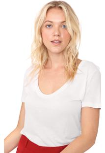 Blusa Hering Lettering Off-White