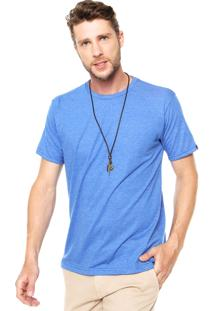 Camiseta Fiveblu Manga Curta Melange Azul