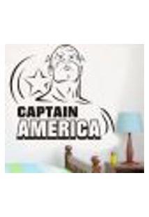 Adesivo De Parede Capitão América 5 - M 58X64Cm