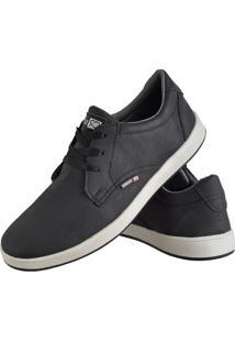 Sapatênis Sapato Casual Cr Shoes Com Cadarço Masculino 1510L Preto