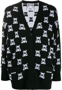 Moschino Cardigan Teddy Bear - Preto