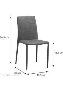 Cadeira Indonesia Estofada Tecido Sintetico Bege - 30745