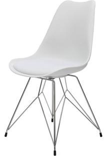 Cadeira Eames Premium Com Almofada Branca Base Torre - 40902 - Sun House