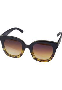 Óculos De Sol Tilit Feminino Acetato Oversize Retro - Marrom/Tarta