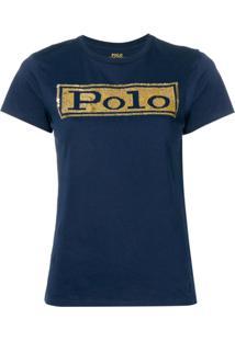 Polo Ralph Lauren Camiseta Com Paetês - Azul