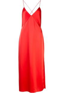 Alice+Olivia Slip Dress - Vermelho