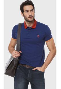 Camisa Polo Mr Kitsch Logo Azul-Marinho