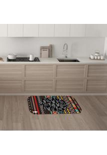 Tapete De Cozinha Mdecore Cactos Colorido 40X60Cm