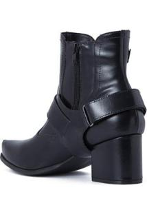 Bota Black Fashion Cs Club Feminina - Feminino-Preto