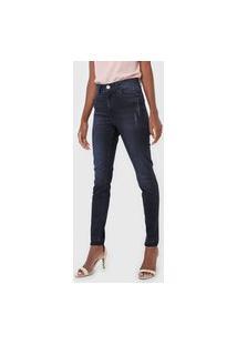 Calça Jeans Lez A Lez Skinny Aruba Azul-Marinho
