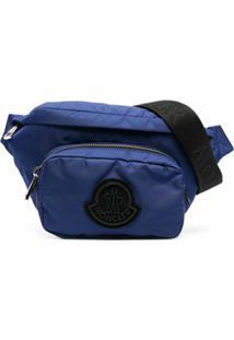 Moncler Pochete Durance Com Logo - Azul