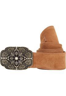 Cinto Shoestock Faixa Camurção Feminino - Feminino
