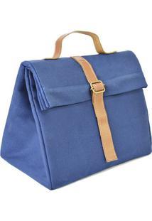 Bolsa Tã©Rmica Triã¢Ngulo- Azul Marinho & Marrom Claroboxmania