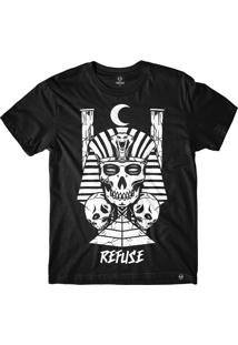 Camiseta Refuse Egyptian King - Preta