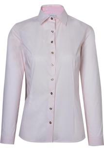 Camisa Dudalina Manga Longa Tricoline Estampado Feminina (Estampado, 38)