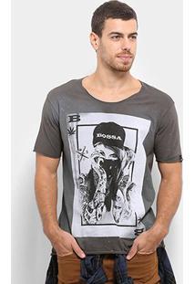Camiseta Bossa Brasil Baralho Masculina - Masculino