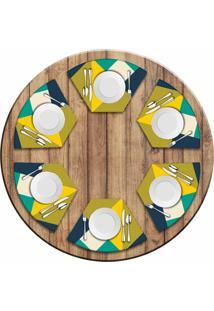 Jogo Americano Love Decor Para Mesa Redonda Wevans Abstract Yellow Kit Com 6 Pã§S - Multicolorido - Dafiti