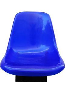 Cadeira Concha Giratória Para Barco - Cor Azul