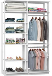 Guarda-Roupa Solteiro Modulado Clothes Branco