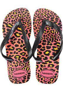 Chinelo Havaianas Top Animals Feminina - Feminino-Pink