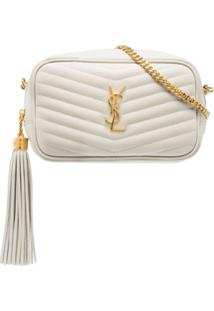 Saint Laurent Bolsa Tiracolo Lou Mini - Branco