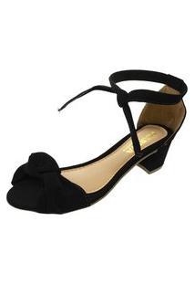 Sandalia Mariha Calçados Laço Preto