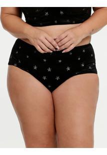 Calcinha Feminina Hot Pant Estrelas Carnaval Plus Size Marisa