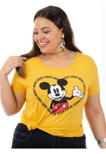 Blusa Estampada Com Pedraria Amarelo