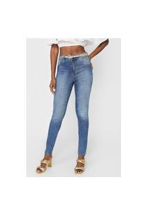Calça Jeans Biotipo Skinny Estonada Azul
