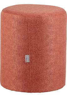 Puff Round Tecido Jacquard Assis 8154 Rosa Stay Puff