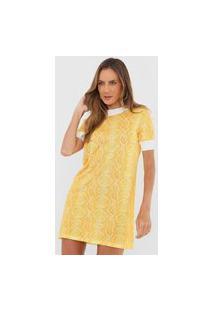 Vestido Lança Perfume Curto Cobra Amarelo