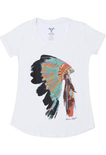 Camiseta Black Angus Manga Curta Estampa Coca Feminina - Feminino-Branco