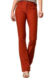Calça Flare Mx Fashion Donatella Vênus Vermelha
