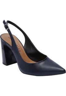 Sapato Chanel - Azul Marinho - Salto: 9,5Cmcecconello