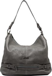 Bolsa De Couro Recuo Fashion Bag Sacola Grafite