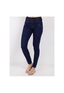 Calça Jeans Com Cinto Amuage Feminina Azul