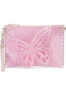 Sophia Webster Bolsa Clutch Flossy Butterfly - Rosa
