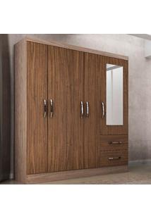 Guarda-Roupa Casal Sevilha Com Espelho 5 Portas E 2 Gavetas - Colibri - Riviera / Malbec