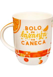 Caneca Bolo De Laranja 340Ml - Dolce Home - Colorido