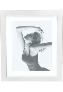 Porta Retrato Para Foto 10X15Cm Aço Inox Prata Prestige